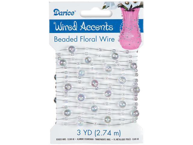 Beaded Wire Garland 3yd-Aurora Borealis