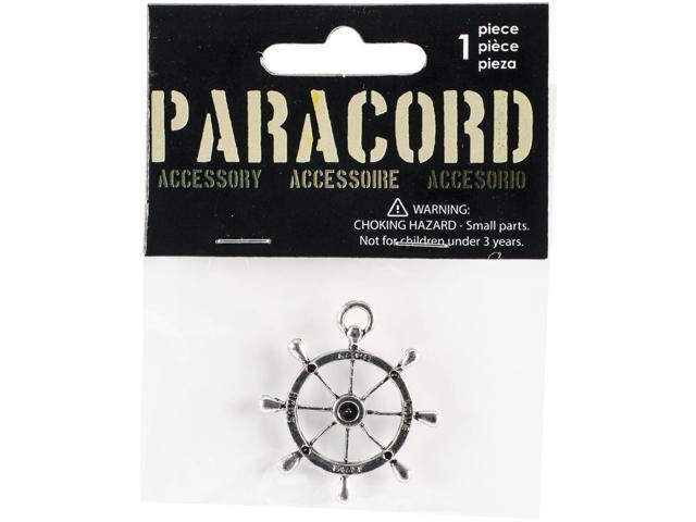 Paracord Charm -Silver Love Nautical 1/Pkg