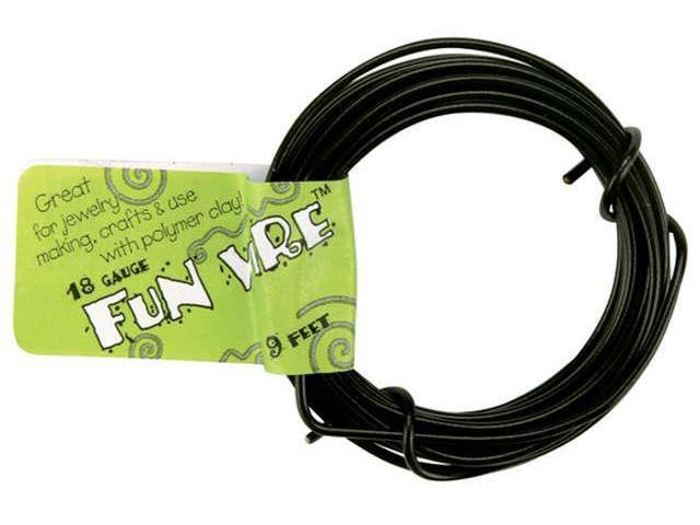 Plastic Coated Fun Wire 18 Gauge 9'-Licorice Black