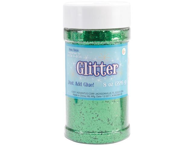 Glitter Shaker 8 Ounces-Kelly Green