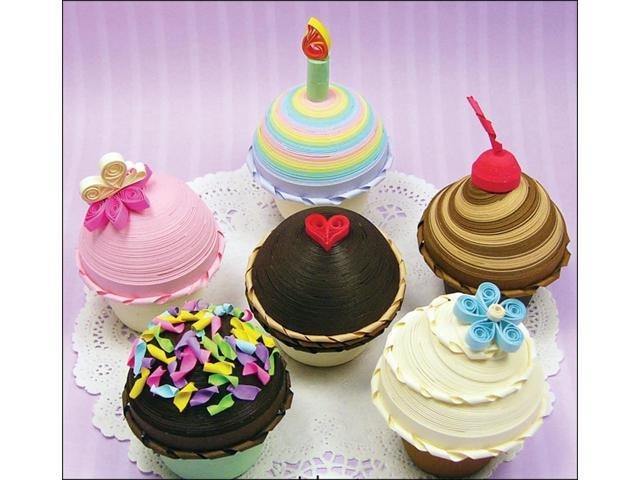 Quilling Kit-Cupcake Treasure Boxes