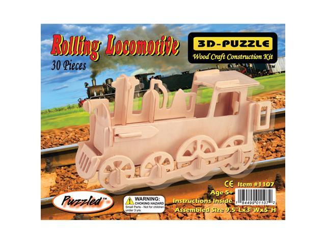 Puzzled 1107 Rolling Locomotive 3D Wooden Puzzles