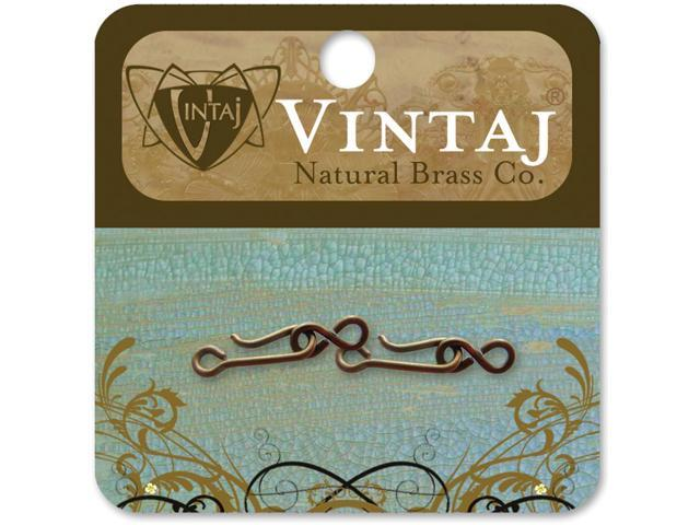 Vintaj Metal Clasps-Hook & Eye 21mmX6mm 2/Pkg