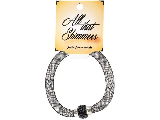 All That Shimmers Readymade Bracelets-Black
