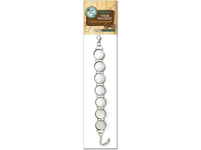 Bottle Cap Inc Vintage Charm Bracelet 1/Pkg-Silver 13mm 9
