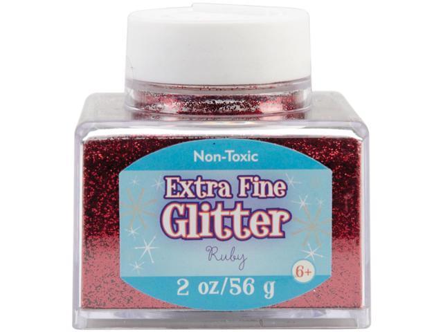 Fine Glitter 2 Ounces-Ruby