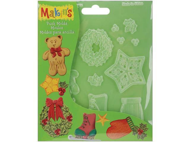 Makin's Clay Push Molds-Christmas Decor