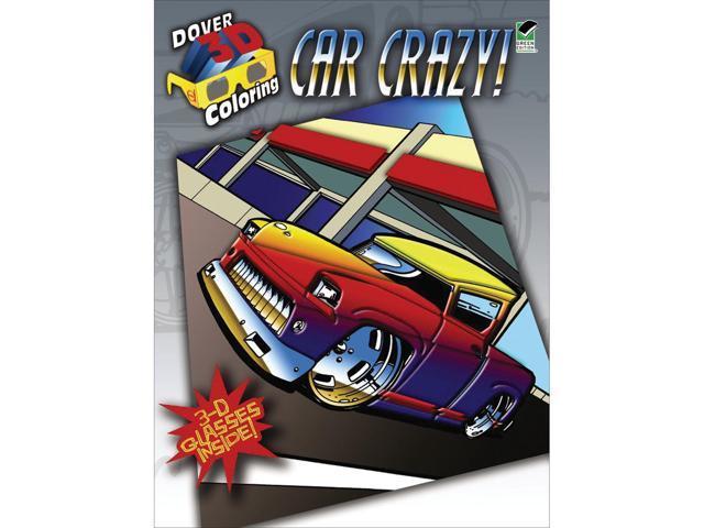 Dover Publications-Car Crazy Coloring Book 3D