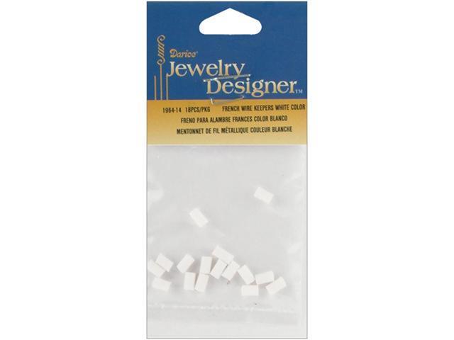 French Wire Rubber Earring Backs 18/Pkg-White