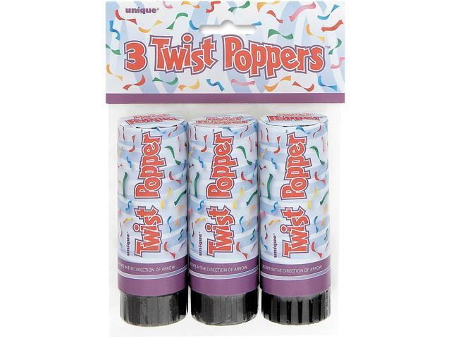 Party Favors 3/Pkg-Twist Poppers 4