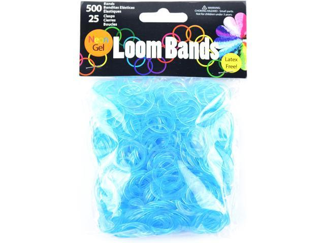 Gel Loom Bands 500/Pkg W/25 Clasps-Turquoise