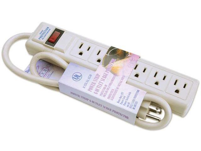 Power Strip 6 Outlet Surge Protector 2'-