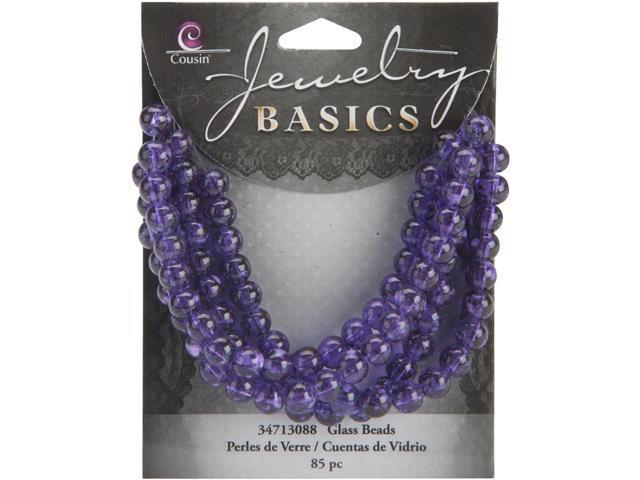 Jewelry Basics Glass Beads 6mm 85/Pkg-Purple Round