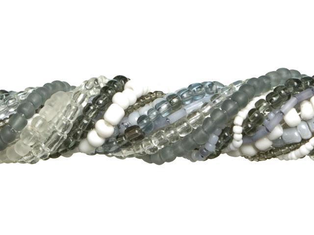 Jewelry Basics Glass Seed Bead Mix 90g-Light Gray