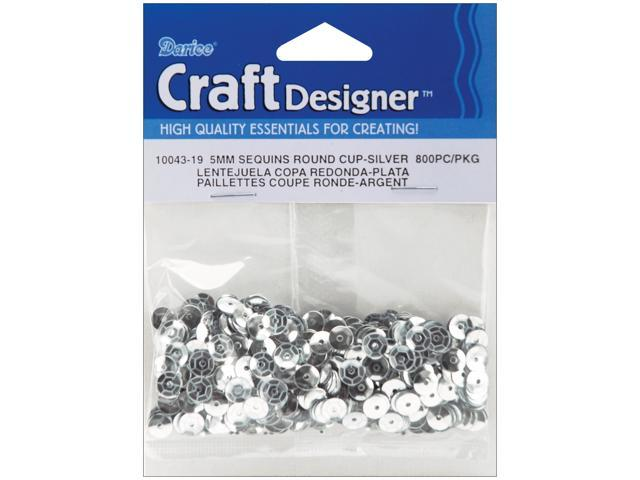 Cupped Sequins 5mm 800/Pkg-Silver