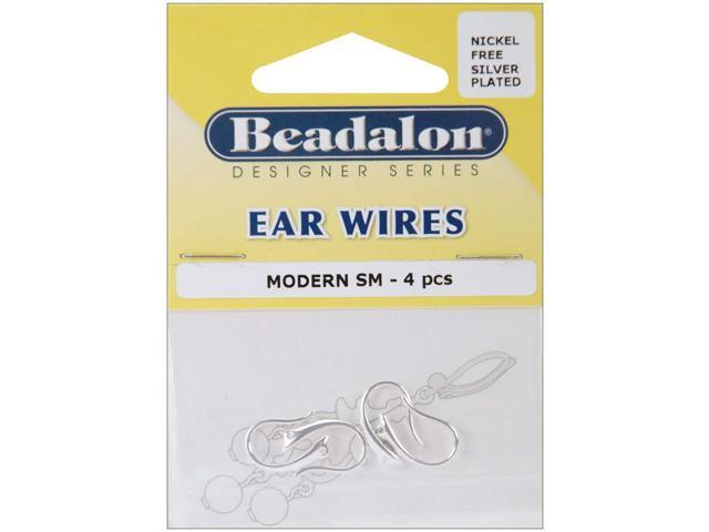 Ear Wires Modern 4/Pkg-Silver-Plated & Nickel-Free