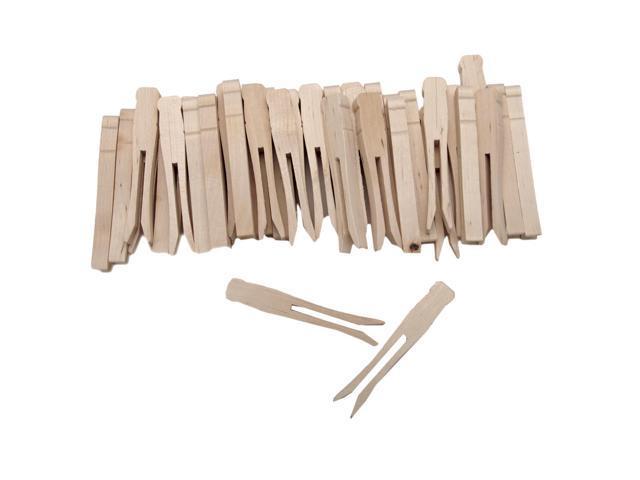 Woodsies No-Roll Clothespins-Natural 3.75