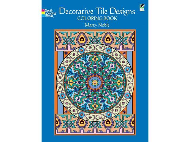 Dover Publications-Decorative Tile Designs Coloring Book
