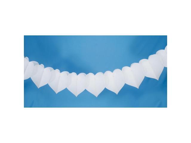 Victoria Lynn Tissue Paper Garland 9'-White
