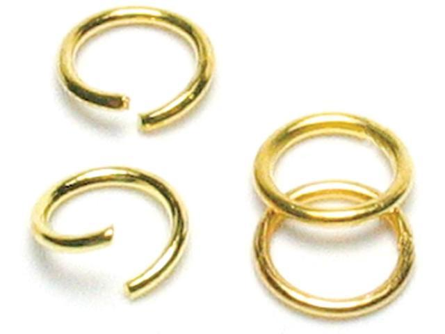 Jewelry Basics Metal Findings 300/Pkg-Gold Jump Rings 6mm