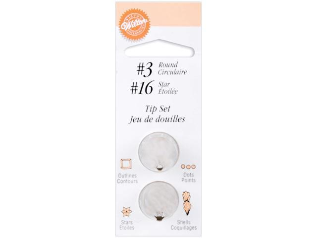 Decorating Tip Set-#3 Round & #16 Star