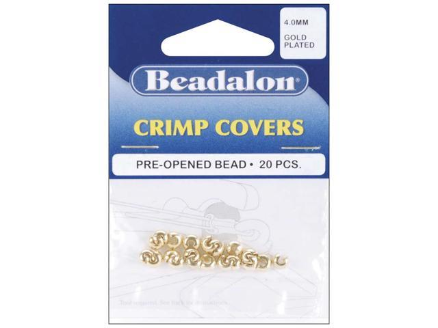 Gold-Plated Crimp Covers-4mm 20/Pkg