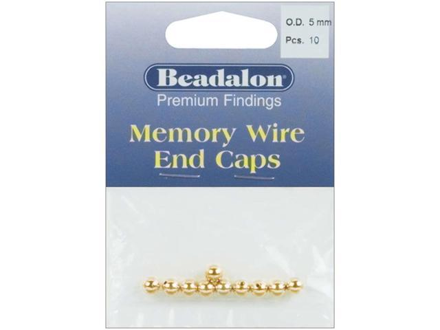 Memory Wire End Caps 5mm 10/Pkg-Gold-Plated