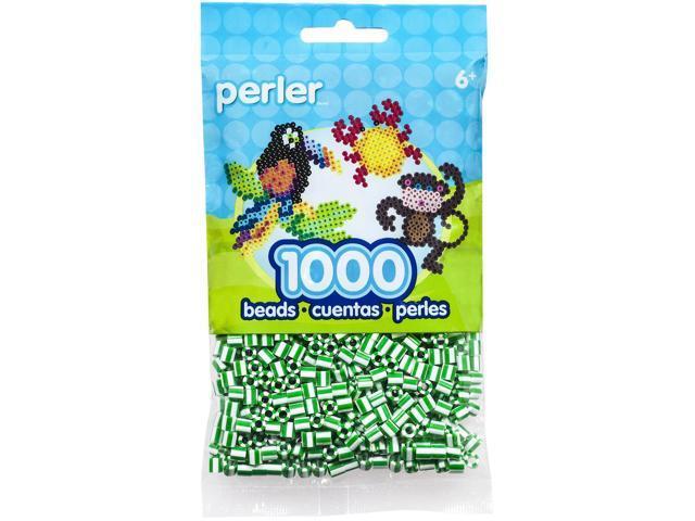 Perler Striped Beads 1,000/Pkg-Spearmint