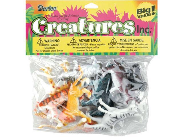 Creatures Inc.-Jungle Animals 12/Pkg