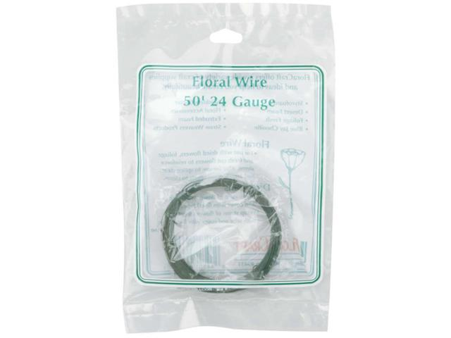 Coiled Floral Wire 24 Gauge 50'-Green