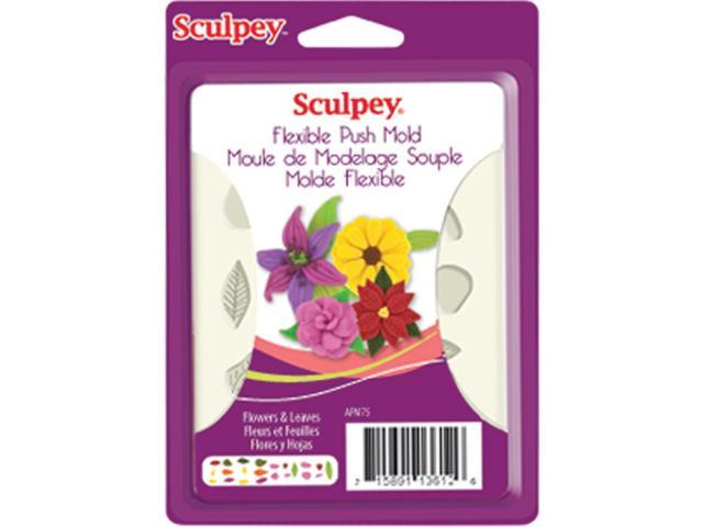 Sculpey Flexible Push Mold-Flowers & Leaves