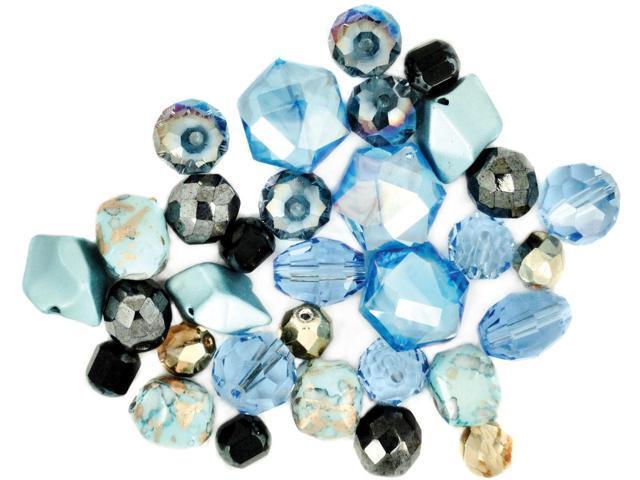 Design Elements Beads 28g-Aquatic