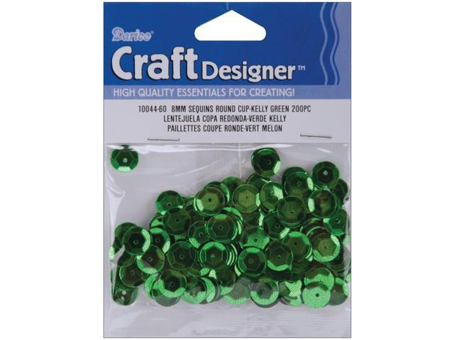 Cupped Sequins 8mm 200/Pkg-Kelly Green