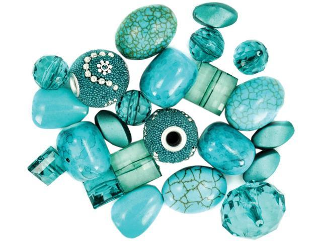 Design Elements Beads 28g-Aquarius