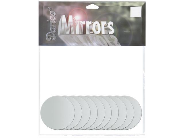 Round Glass Mirrors 10/Pkg-.5