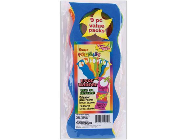 Foam Wavy Door Hangers 9/Pkg-Assorted Colors