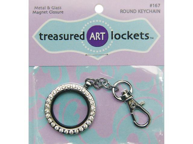 Keychain-Silver Round