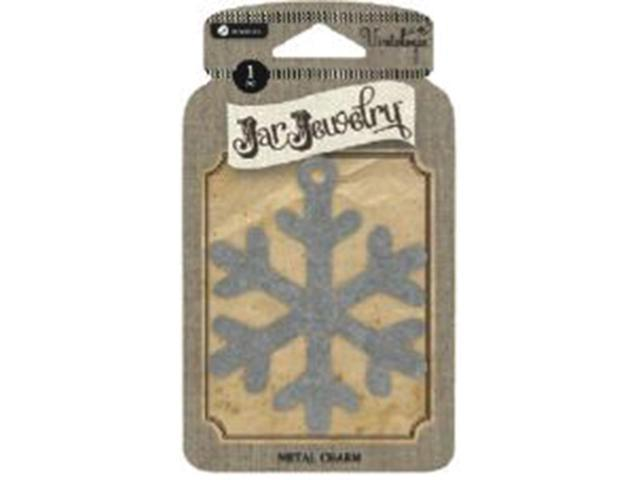 Vintologie Collection Metal Jar Charm-Snowflake