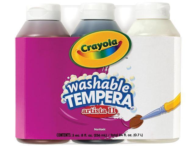 Crayola Artista II Washable Tempera Paint 8oz 3/Pkg-Neutral