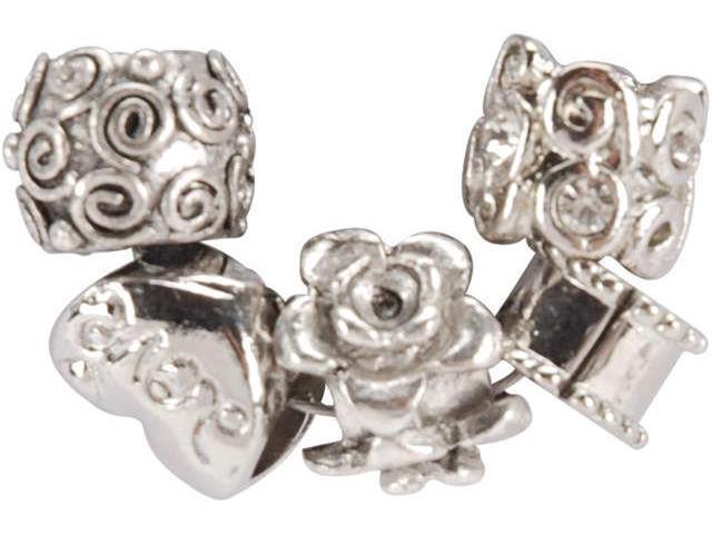 Uptown Bead Collection 5/Pkg-Metal-Style #5