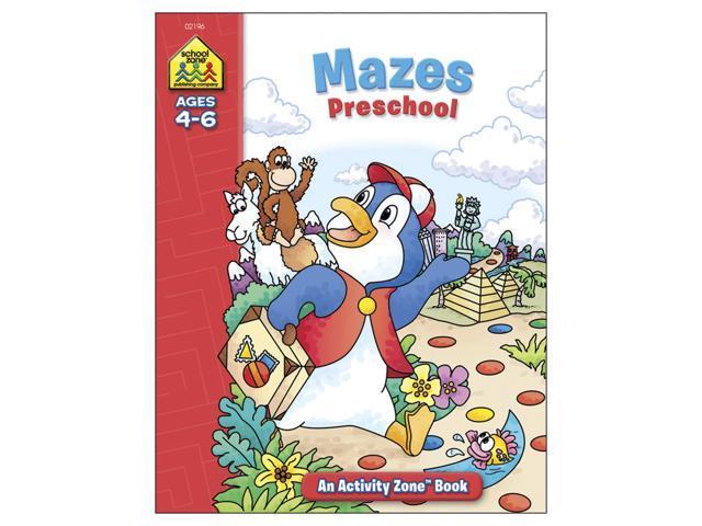 Activity Workbook-Mazes Preschool - Ages 3-5