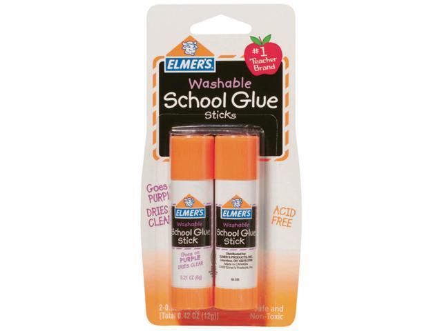 Elmer's Washable School Glue Sticks - Purple 2/Pkg-.21oz