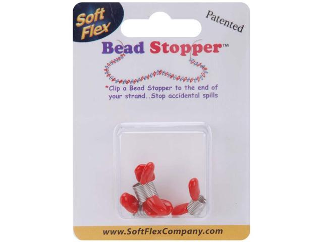 Mini Bead Stoppers 4/Pkg-Plastic Topped Metal