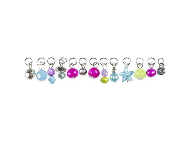 Tis The Season Charms-Pink & Green Drops 13/Pkg