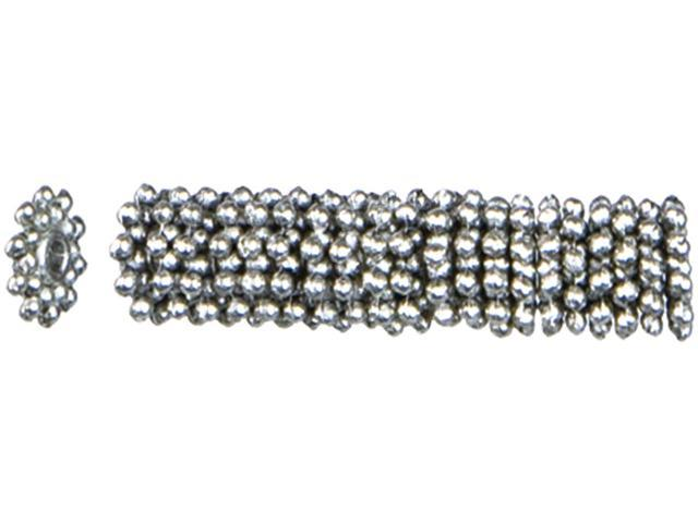 Jewelry Basics Metal Beads 8mm 45/Pkg-Silver Knob Wheel Spacer
