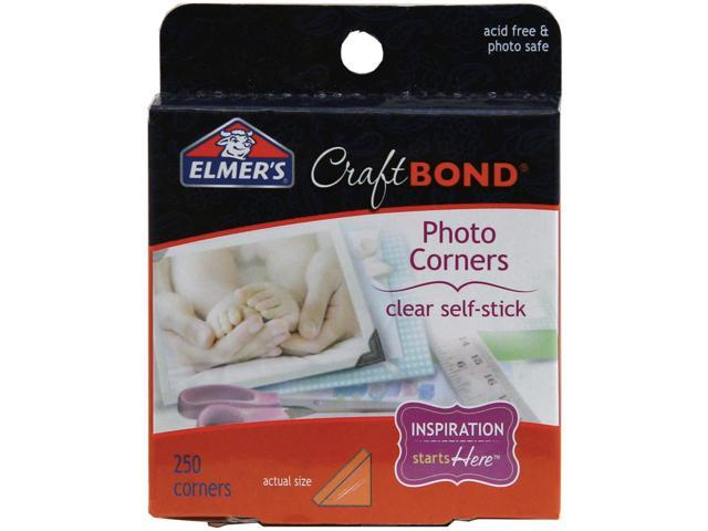 Elmer's CraftBond(R) Adhesive Photo Corners 250/Pkg-Clear