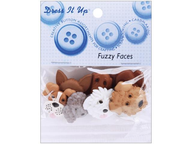 Dress It Up Embellishments-Fuzzy Faces
