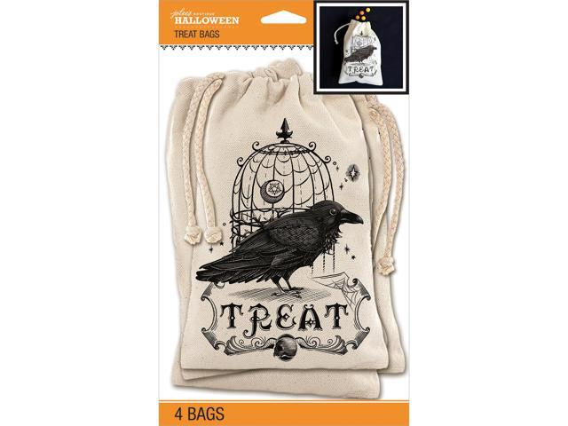 Jolee's Halloween Canvas Treat Bags 4/Pkg-Vintage