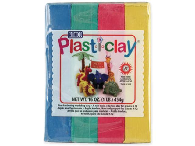 Plast-i-Clay 1lb-Red, Blue, Yellow & Green