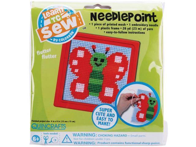 Sew Cute! Butterfly Needlepoint Kit-6